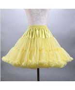 Newly Yellow  Wedding Petticoats Puffy Tutu Women Skirts 2019 Cosplay Gi... - $25.33