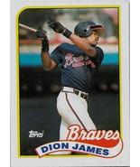 1989 Topps Baseball Card, # 678, Dion James, Atlanta Braves - $0.99