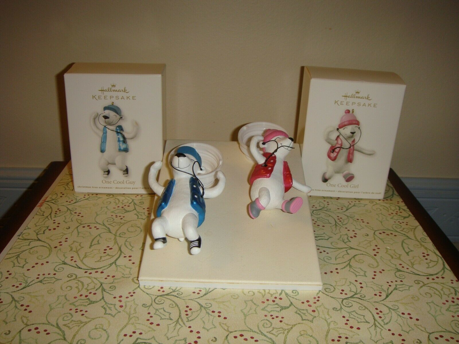 Primary image for Hallmark 2012 One Cool Girl & Guy Ornaments