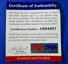STEPHEN CURRY / AUTOGRAPHED G.S. WARRIORS BLUE SWINGMAN JERSEY / PSA/DNA & JSA image 11