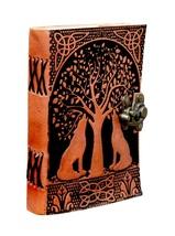 Prastara Handmade Goat Leather Journal    Double Lion Embossed Book of S... - $38.00