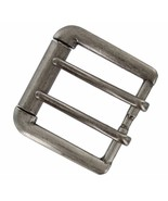 """Antiqued Finish Double Prong Replacement Roller Belt Buckle, Fits 1-1/2""""... - $10.95"""