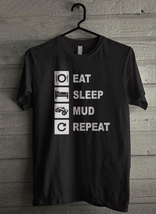 Eat Sleep Mud Men's T-Shirt - Custom (4911) - $19.12+
