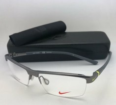 Nuevo Nike Gafas 6050 045 55-14 145 Media Montura Metalizado Titanio con... - $199.57