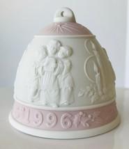 1996 Lladro Christmas Bell Ornament Pink Children's Choir Porcelain No Box - $12.59