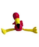 "Peek a Boo Toys Flamingo Plush Pink Spots Yellow Legs 12"" Stuffed Animal... - $13.99"