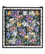 """Meyda 22""""W X 22""""H Beautiful Sugar Magnolia Stained Glass Window - $544.00"""