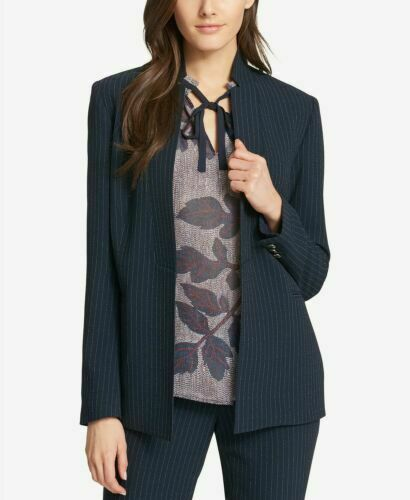 Primary image for Tommy Hilfiger Women's  Pinstriped Open-Front Jacket MSRP $139 Size 16