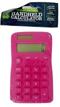 Dual Power 8 Digit Display Calculator with Memory Function & Auto Off Pink