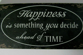 Wooden Inspirational Hanging Wall Plaque Sign Happiness Decide Happy Bla... - $14.99