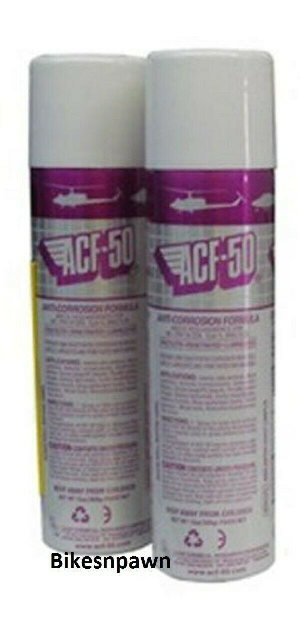 2 Pack ACF-50 Anti Corrosion Formula Aerosol Spray Lubricant 13oz Lear Chemical