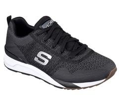 Black White Skechers Men's Memory Foam Sneaker Comfort Lace Up Mesh Soft... - £39.13 GBP