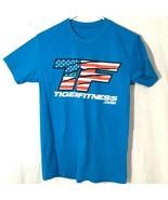 Tiger Fitness Mens T Shirt Blue Sz Medium See Measurements - $16.87