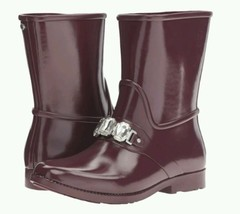 Michael Kors Leslie Rainboot Plum Size 7 EU 37 - $130.00