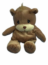 Vtg Precious Moments Tender Tails Brown Bear Plush Stuffed Animal Lovey ... - $10.88