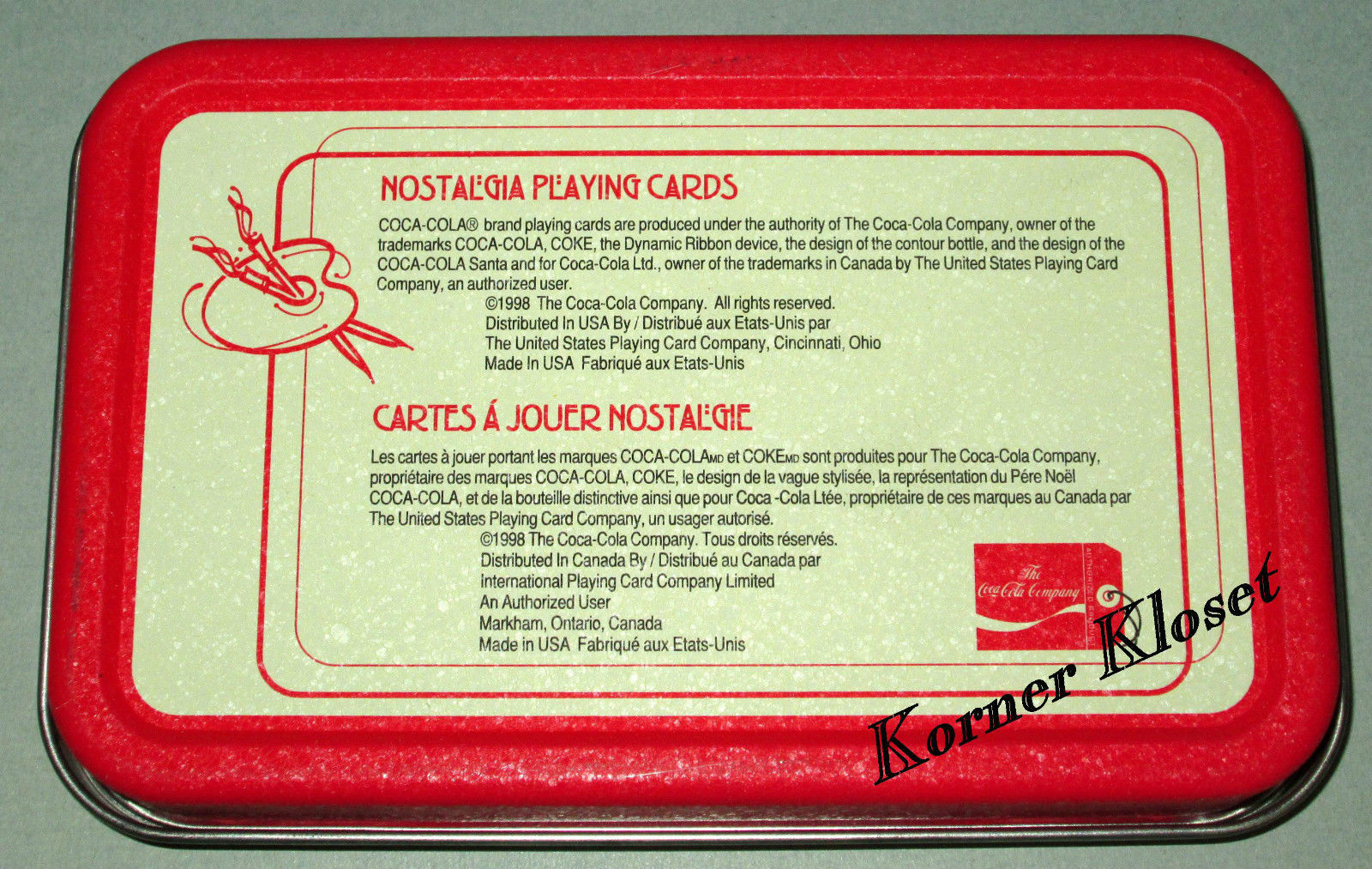 Coca-Cola Christmas Holiday Playing Cards - Decks of Coke Cards In Tin - New