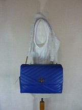 NWT Tory Burch Nautical Blue Kira Chevron Convertible Shoulder Bag $528 - $522.72