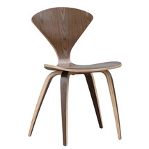 Fine Mod Imports Wooden Side Chair, Walnut - $155.00