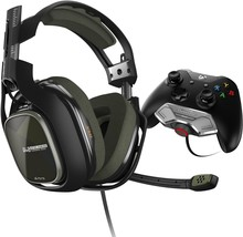 ASTRO Gaming A40 TR Headset + MixAmp M80, Black/Olive, Xbox One - $144.05