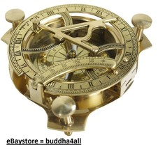 Sundial Compass  Solid Brass Sun Dial Made in India - $23.99