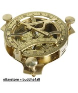 Sundial Compass  Solid Brass Sun Dial Made in India - $26.14