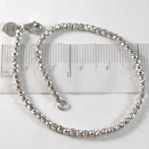 Pulsera de Oro Blanco 750 18 CT con Palline, Esferas Facetadas, Corazón,... - $578.56