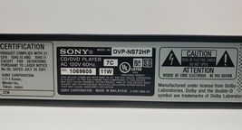 Sony HDMI DVD Player DV-NS72HP...With Remote...Tested image 6