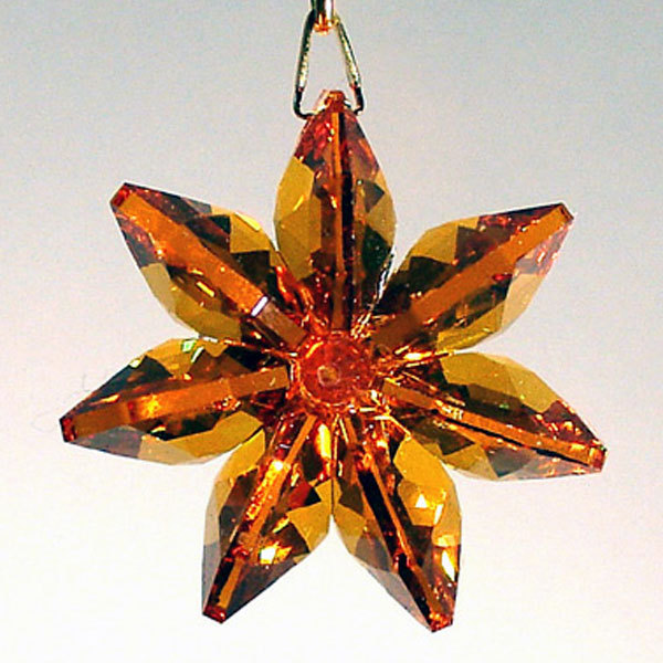 Crystal Colored Daisy Ornament