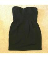 Forever XXI 21 Twenty One Dress Womens Size Medium Black Poly Knit Strap... - $11.99