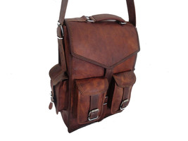 Real Buffalo leather handmade Backpack rucksack laptop Treking unisex Tr... - $59.40