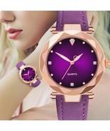 Hot Sale Ladies Watch Diamond Dial Quartz Wrist Watch Top Luxury Brand - $8.28