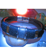 Haunted BRACELET PROTECTION AGAINST CURSES MAGICK 925  LEATHER WITCH Cassia4 - $23.37