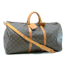 LOUIS VUITTON Monogram Keepall Bandouliere 55 Boston Bag LV Auth 7963 - $498.00