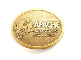 VTG Apache Marine Cleaning Coating Hit Line Brass Belt Buckle  - $21.77