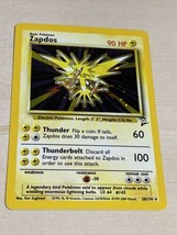 Zapdos 16/102 Rare Holo Base Set Unlimited Pokemon Card 1999 Near Mint - $99.00