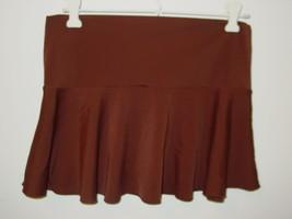 Victoria's Secret brown skirt swimsuit cover up drop fold over waist-XS - $9.06