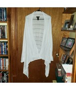 Lane Bryant White Open Front Eyelet Sweater - Size 26/28 - $34.99