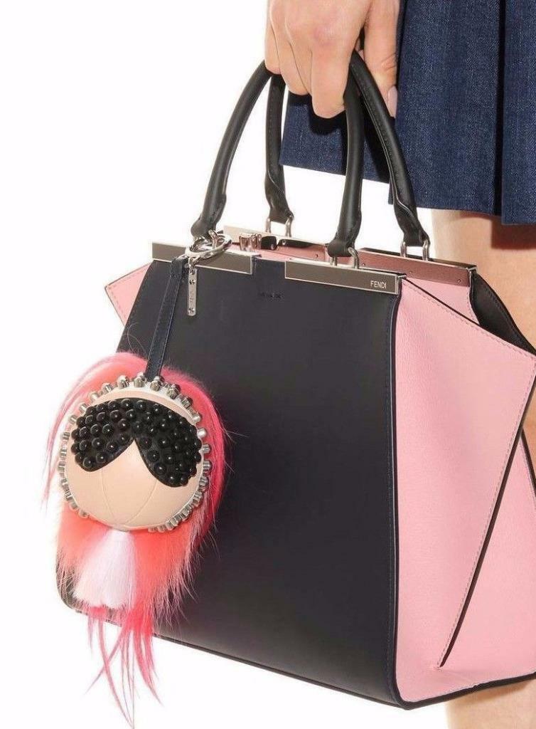 New $1100 Fendi Karlito Punkarlito Monster Studded Charm Bag