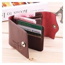Wallet Men's PU Leather Credit ID Card Holder Slim Billfold AH1