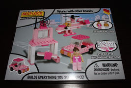 Best-Lock Construction Car And Hellicopter Set Toys (Girls Pink) NIB   - $8.99