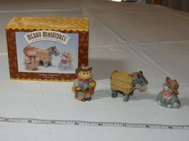Hallmark Merry Miniatures Trailer Cowboy Cameron 3 Parts Set 1996 - $10.67