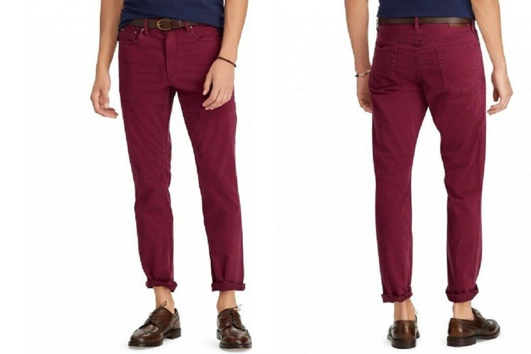 Polo Ralph Lauren Men's Prospect Straight Stretch Jeans, 30X30, Red, MSRP $98 - $54.44