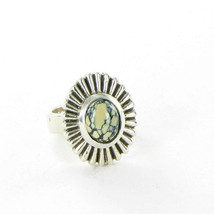 King Baby Small Starburst Concho Ring Top Hat Spotted Turquoise Sz 7 K20... - $257.05