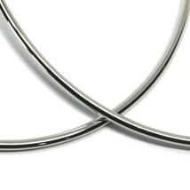 """925 STERLING SILVER CIRCLE HOOPS BIG EARRINGS, 9.5cm x 2mm (3.8"""" X 0.08"""") SMOOTH image 3"""