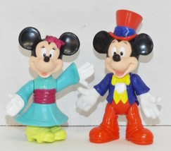 Vintage Mickey Mouse & Minnie Mouse Epcot Center Poseable Action Figures... - $11.87