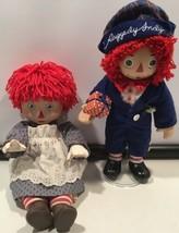 "1983 Bobbs-Merrill Co CBS Porcelain 18"" Raggedy Ann Doll And A Unbranded... - $67.50"