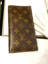 AUTHENTIC Vintage LOUIS VUITTON Monogram Porte Valeurs Checkbook Wallet - - $308.75
