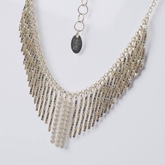 COLLIER EN ARGENT 925 RHODIUM ZIRCONIA CUBES BY MARIE IELPO MADE IN ITALY