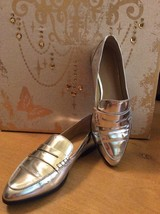 Michael Kors Connor Silver Leather Loafers Shoe... - $79.16