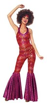 Costume Culture Women's 70's Foxy Lady Costume, Red, Large - $71.14